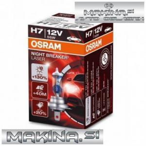 Osram halogenska žarnica 12V - H7 - 55W Night Breaker Laser +130