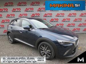 Mazda CX-3 CD105 AWD AUTOMATIC + USNJE + NAVIGACIJA + KEYLESS + PDC + KAMERA + ALU.18