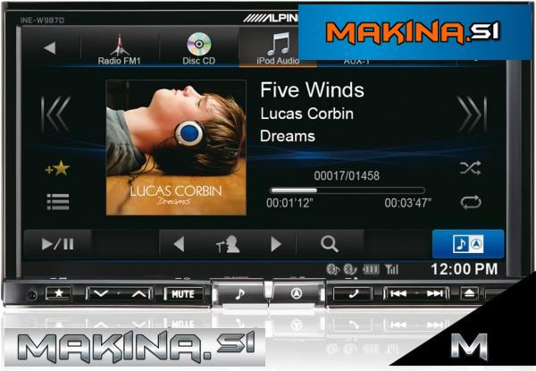 INE-W987D - Alpine multimedijski avtoradio