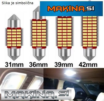 LED žarnica CEVNA / Canbus / 36mm